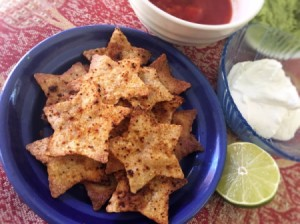 Star Shaped Lime Tortilla Chips