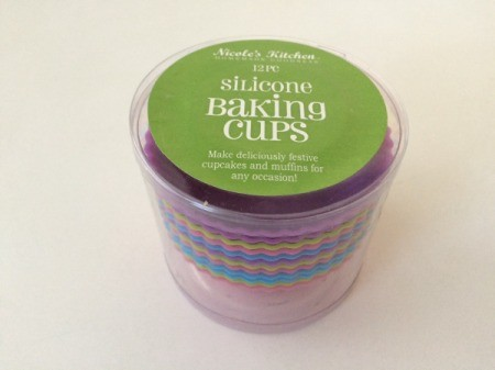 A package of silicone baking cups, to use instead of paper cups in a muffin tin.