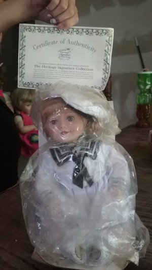 Value of Heritage Signature Collection Sailor Doll - doll in sailor suit, wrapped in plastic