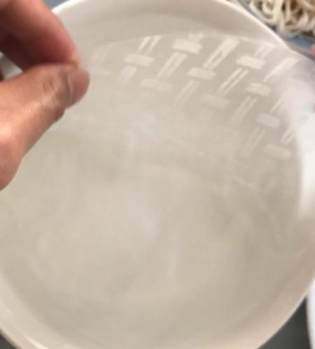 Spring Rolls moistened in water