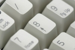 Close up of the number pad on a computer keyboard.