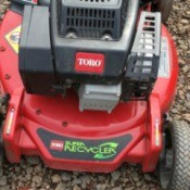 A toro grass recycler mower.