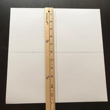 Pinwheel Wall Decor/Backdrop for Photos - measuring to create 6 inch squares