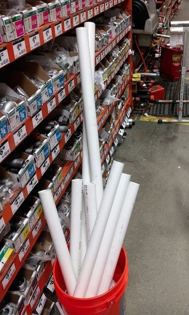 PVC Tunnel Building Project for Toddlers - pipe for sale in store