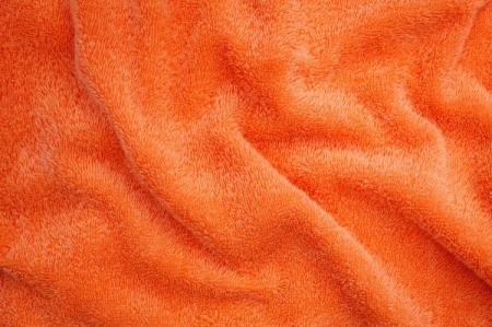 A plush orange blanket.