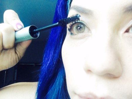 All-Day Curled Lashes - applying mascara