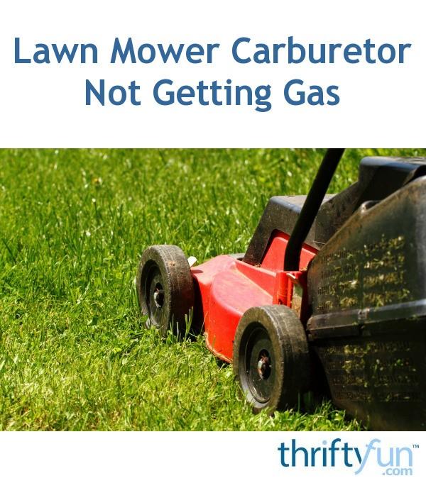 Lawn Mower Carburetor Not Getting Gas | ThriftyFun