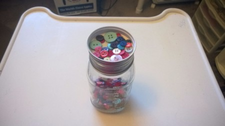 Sorting Buttons or Beads - buttons in top lid