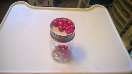 Sorting Buttons or Beads - beads in lid