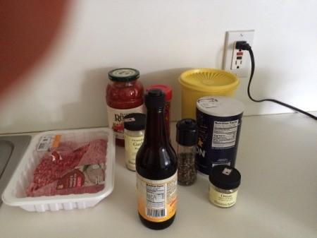 Porcupine Meatballs ingredients