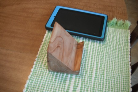 Homemade Wooden Kindle Stand