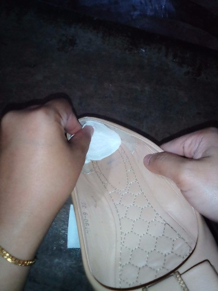 Preventing Pain from Blisters with a Pantyliner - stick to the back of the shoe causing the blister