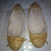 Use Dryer Sheets for Shoe Odor - dryer sheets in a pair of shoes