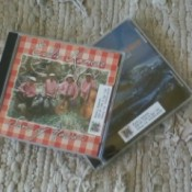 Address labels on CD jewel cases.