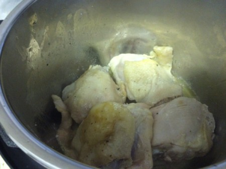 chicken in pot
