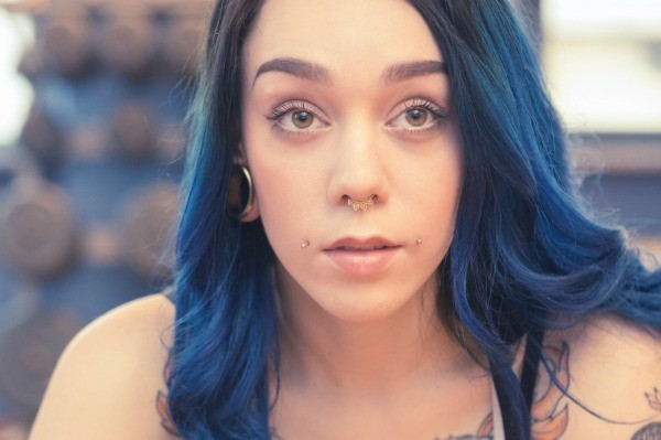How long should you wait before re dyeing hair thriftyfun a girl with blue hair and piercings solutioingenieria Choice Image