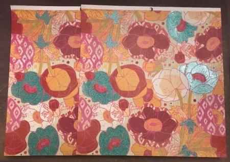 Personalized Bulletin Board - colorful floral scrapbook paper