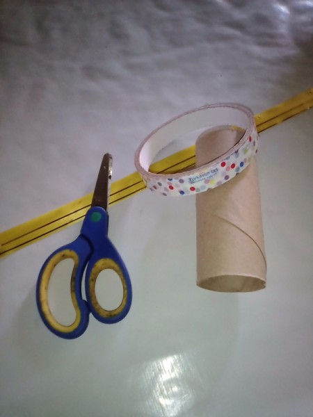 Recycled Tissue Roll for Small Gift Wrapping - supplies