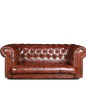 An older leather couch.
