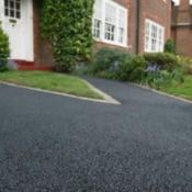 A newly paved driveway.