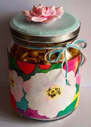 Delightful Jar Teacher's Appreciation Gift - nut filled decorated jar