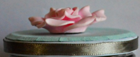 Delightful Jar Teacher's Appreciation Gift - glue rose to top of lid