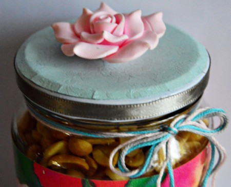 Delightful Jar Teacher's Appreciation Gift - tie a floss bow around the neck of the jar