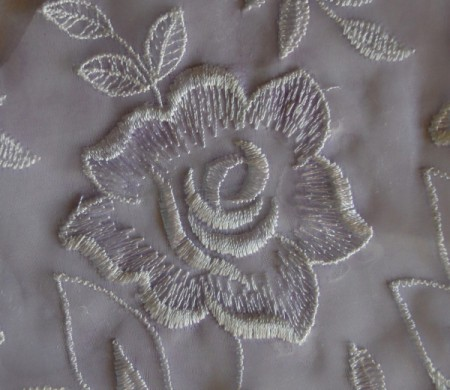 Easy Floral Lace Serviette Rings - glue flowers and a bit of the net on the purple cardstock