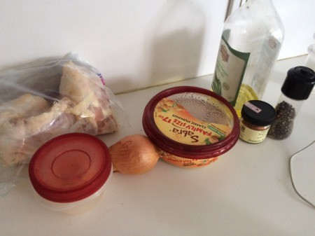 Hummus-Crusted Chicken ingredients