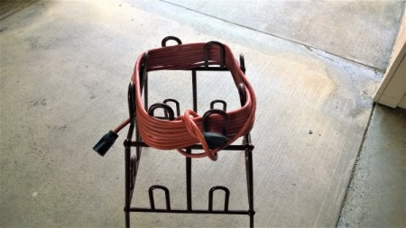 How to Reuse a Plastic Shoe Rack - holding electrical cords