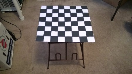 How to Reuse a Plastic Shoe Rack - supporting a checker board