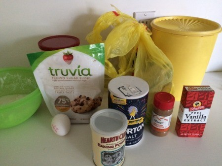 Healthy Oatmeal Muffins ingredients