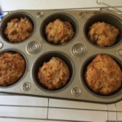 Healthy Oatmeal Muffins baked in muffing tin