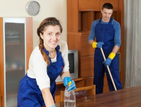 Two profession cleaners.
