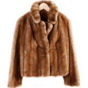 A fur coat on a hanger.