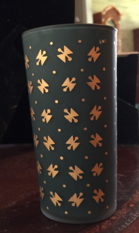 Identifying a Set of Old Drinking Glasses - green glasses with gold decorations