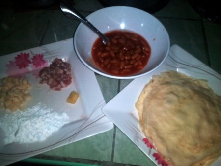 Cheesy Bacon, Pork and Beans Roll