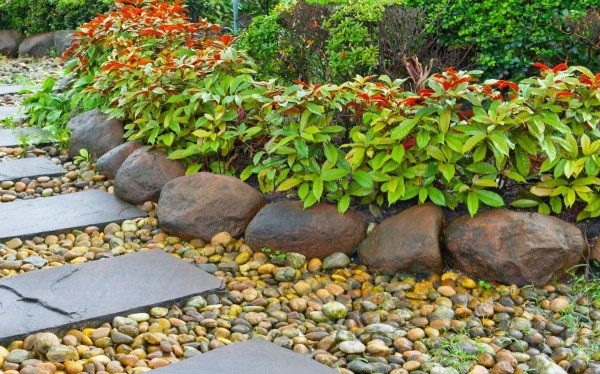 Raised Beds Made With Rocks