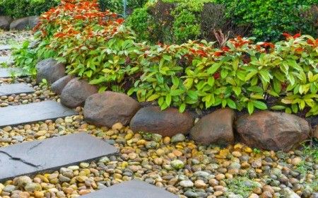 Raised Bed Made With Rocks
