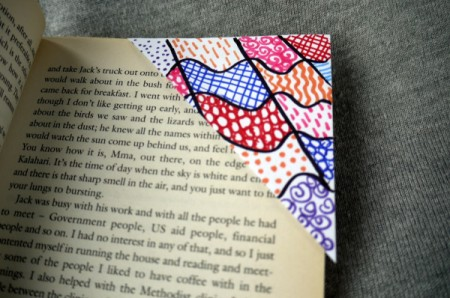 Recycled Envelope Corner Page Bookmarks - corner bookmark on page