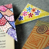 Recycled Envelope Corner Page Bookmarks - three complete corner bookmarks