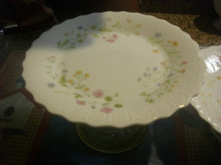 Upcycled Cake Plate