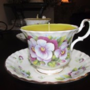Bone China Candle Cups - finished tea cup candle