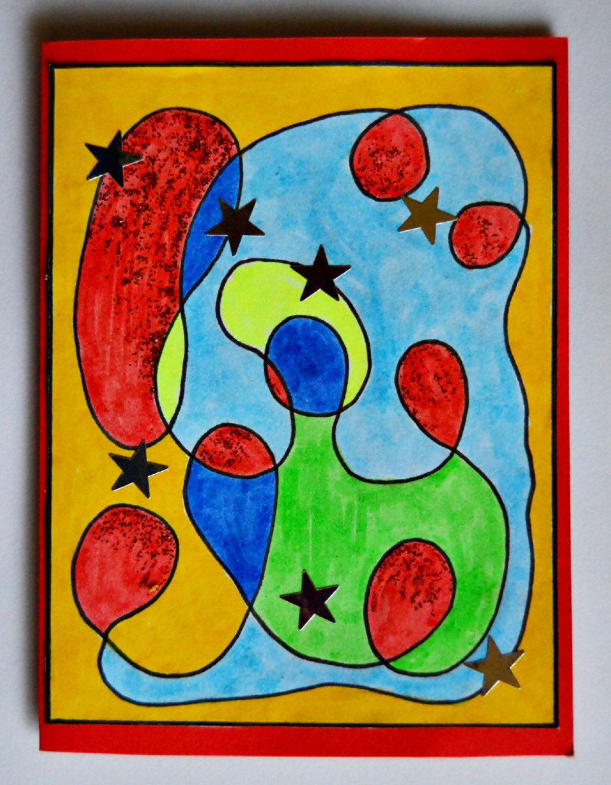 How to make modern art Youtube Draw And Color Tangled Squiggle Pattern And Turn It Into Modern Birthday Card This Project Is An Easy Way For Kids To Make Their Own Cards For Their Hgtvcom Modern Art Card Project For Kids Thriftyfun