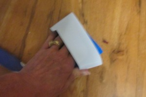 Duct Tape for Picking Up Fragments of Glass - tape wrapped around hand