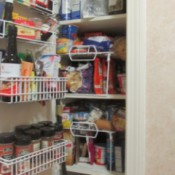 An organized pantry