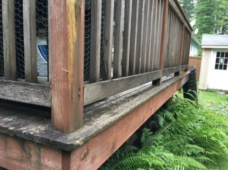 Refinishing a Deck - including the edges