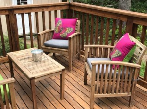 Refinishing Teak Outdoor Furniture - oiled and dry furniture, table and chairs