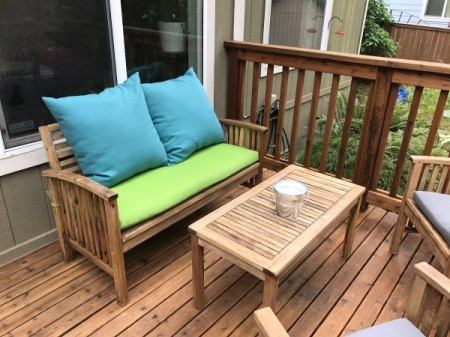 Refinishing Teak Outdoor Furniture - bench and table