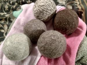 Using Dryer Balls - wool dryer balls